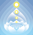 Buddha 3 vector image vector image