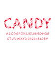 candy letters and numbers set sweet lollipop font vector image