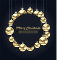 christmas golden glowing balls with celebration vector image vector image
