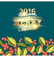 Christmas mistletoe holiday card with text vector image vector image