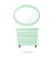 Commode and mirror isolated on a white backgrounds vector image vector image