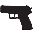 compact pistol outline vector image vector image