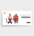 culture and music africa landing page template vector image vector image