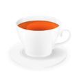 cup of tea 01 vector image vector image