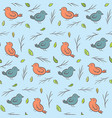 cute childish pattern with colorful birds vector image vector image