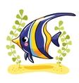 Cute fish zanclus in vector image