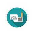document setting pencil business strategy icon vector image