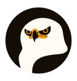 eagle head flat style front vector image