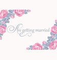 floral wedding invitation card template with text vector image