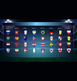 football cup all groups vector image vector image