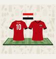 football egypt sport wear tshirt vector image vector image