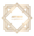 gatsby art deco background vector image vector image