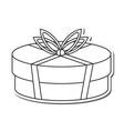 gift present bowtie design vector image vector image