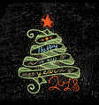 happy new year and merry christmas large postcard vector image vector image