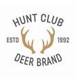 hunting vintage emblem design template vector image