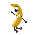 isolated happy banana emote vector image vector image