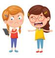 kids fighting for smartphone vector image