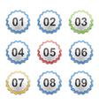 Labels with Numbers vector image vector image