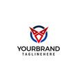 letter v logo design concept template vector image