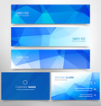 low poly business stationary set vector image