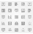 Math icons set vector image vector image