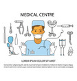 medical centre website vector image vector image