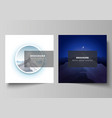 minimal layout two square format vector image