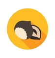 Nut flat icon with long shadow vector image vector image
