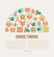 organic farming concept in half circle vector image