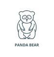 panda bear line icon linear concept vector image vector image