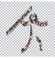 people sports javelin vector image vector image