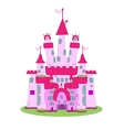 Pink Castle vector image vector image