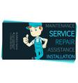 plumber in uniform repair maintenance service vector image vector image