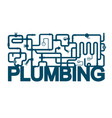 plumbing and sanitary design vector image vector image