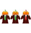 pumpkin head man vector image vector image