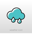 Rain Cloud icon Meteorology Weather vector image vector image