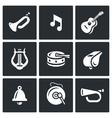 Set of Musical Instruments Icons Trumpet vector image vector image