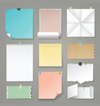 set of torn paper backgrounds vector image