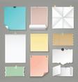 set torn paper backgrounds vector image vector image