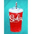 Soda color vector image vector image