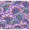 Spring pattern with violet handdrawn flowers vector image vector image