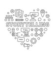 storytelling concept heart in vector image vector image