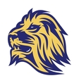 stylish emblem lion head for sports team vector image vector image
