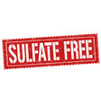 sulfate free sign or stamp vector image vector image