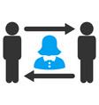 swingers exchange lady icon vector image vector image