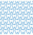 tooth pattern background vector image vector image