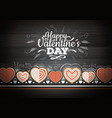 top view of valentine cookies vector image