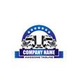 truck logo business symbols emblems of vector image vector image