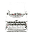 typewriter typed vector image vector image