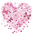 Valentine pink big heart vector image